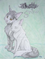Thistleclaw and Snowfur by WolfPrint267