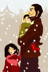 Hale family Xmas time by Lelia
