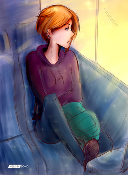 Margo on the bus by melissa-dono