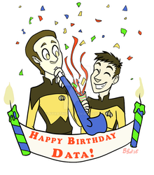 Happy Birthday Data! by NyxAtNight