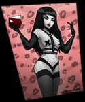 Some Chick and Wine Pinup by DJ88