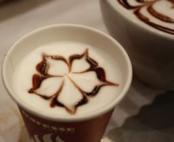 Chocolate Flowered Latte 2 by MochaCat