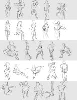 Gesture Drawings June 14 2014 (A) by bgates87