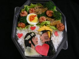 Lovey Bento on Black by KandiKawaii