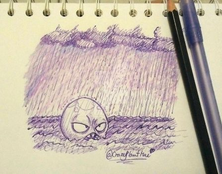 Doodle Archives no. 2-Rainy Day on the Sea by CrazyPlantMae
