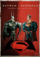 Batman V Superman by Noumier