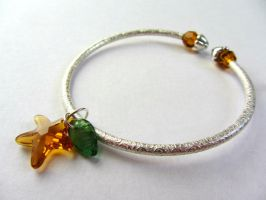 Kingdom Hearts Paopu Fruit Sterling Silver Bangle by PaintIt13lack