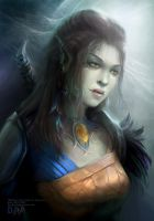 Baldur`s Gate fan-art: ''Half-orc girl'' by DAR-dEvil