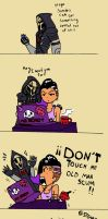 Reaper and Sombra comic by SteamTanuki