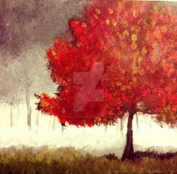A Red Tree by brownalliecat