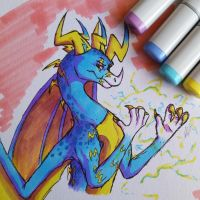 Icelectric Copic Doodle by IcelectricSpyro