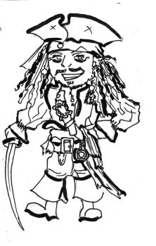 Jack Sparrow (chibi style) by selva-s