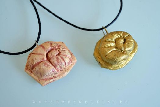 Necklaces and bracelets on pokemoncrafts deviantart blackmanaburning 60 5 helix fossil twitch plays pokemon necklace by anyshapenecklaces mozeypictures Gallery