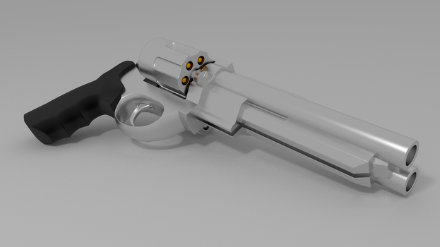 double barreled revolver by jarjarguy