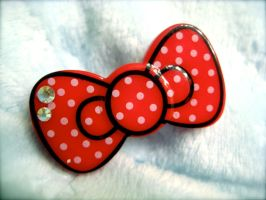 Hello Kitty Hairbow Clip by prettypop