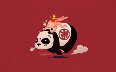 panst and panda happy 2009 by heiheirage
