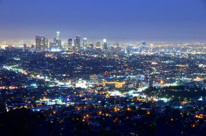 Los Angeles Night view by esee