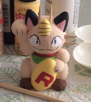 Custom 3D Printed Lucky Meowth by KwaziiCat