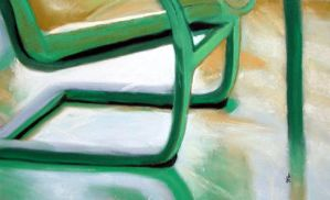 green chair by classina
