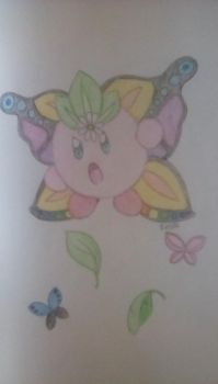 Kirby Epic Yarn - Butterfly Patch by sprink-sketches