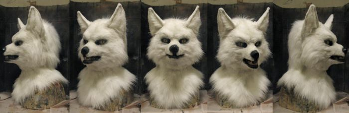 Spirit halloween moving mouth fox mask refurbish by Crystumes