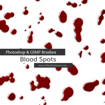 Blood Spots Photoshop and GIMP Brushes by redheadstock