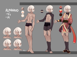 Alphinaud Ref by re-11