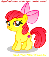 APPLEBLOOM DRAWING WITH HER CUTIE MARK by HOBYGRENOUSSE