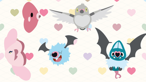 Pokemon with Heart Symbols