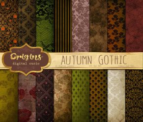 Autumn Goth Papers by DigitalCurio