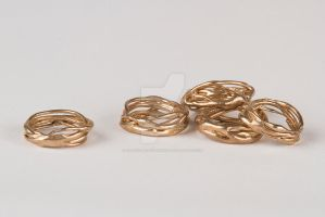 Twisting Branches Rings by catiecurrandesigns