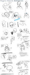 Skele Sketches by Taylor-Denna