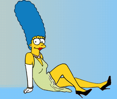 Marge Shows Her Legs by paulibus2001