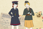 Saxonland and Occasian Female Soldiers by InkingMarch