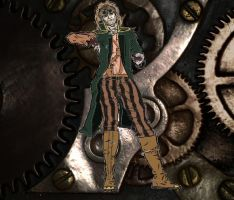 My Character for a Steampunk PbF  RPG by Isulf