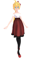 Tda Kagamine Lenka Dress [DL] [FIXED] by xXMofuMofuXx