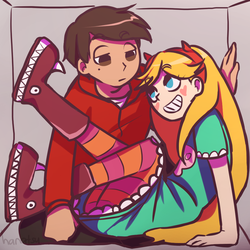 Starco-Trapped in a box by hanatsu04
