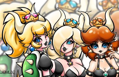 Bowsette Three Version by JamilSC11