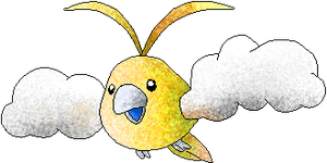 Shiny Swablu by RougeSulfura