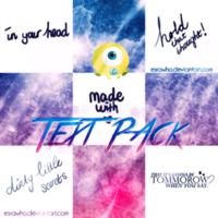 Text Pack. by esrawho