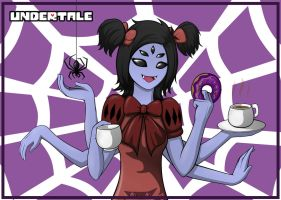 *Muffet fills you with DETERMINATION. by FlutterRainbow