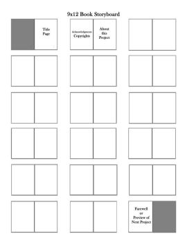 9x12 Book Planning Storyboards by themuseslibrary