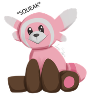 Pokedex Challenge Day 3 Fighting: Stufful by LunarSolaris