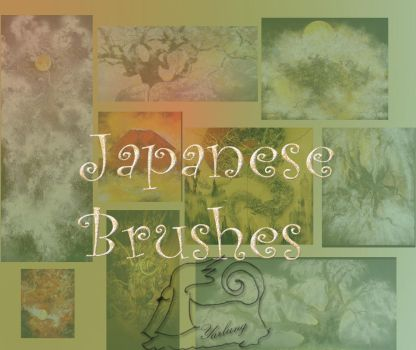 Japanese brushes textures by hermeline
