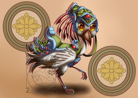 Chibi Mounts - Golden Regal Crane by LadyRosse