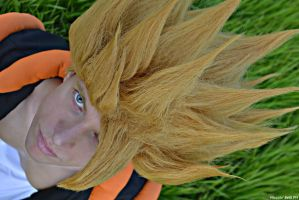 The eyes of two Super Saiyajin by Alexcloudsquall