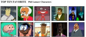 Top Ten Favorite Phil Lamarr Characters by mlp-vs-capcom