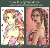 Draw this again: Aerith Gainsborough by Neferu