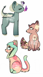 open O.T.A. quick adopts  by GraffitiSplash