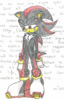 Shadow the hedgehog by cranberry12